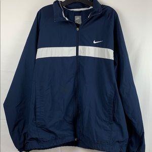 Men's Nike navy blue and white windbreaker size XL